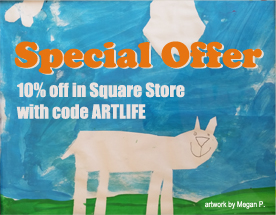 discount offer image with Megan Perry artwork