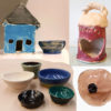 mixed sample of kids clay projects done with Artingales
